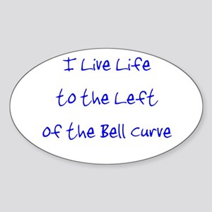 Left of the Bell Curve Sticker (Oval)