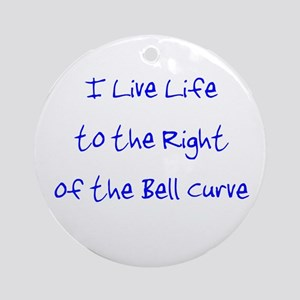 Right of the Bell Curve Ornament (Round)