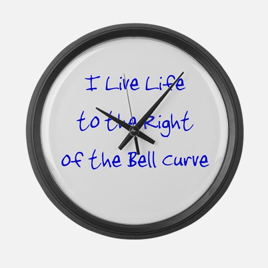 Right of the Bell Curve Large Wall Clock