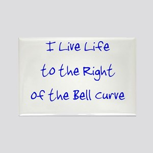 Right of the Bell Curve Rectangle Magnet