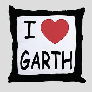 I heart Garth Throw Pillow
