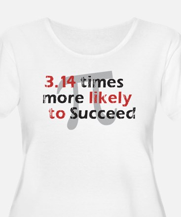 Pi Success Funny Math Women's Plus Size Scoop Tee