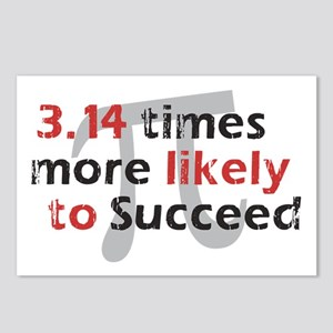 Pi Success Funny Math Postcards (Package of 8)