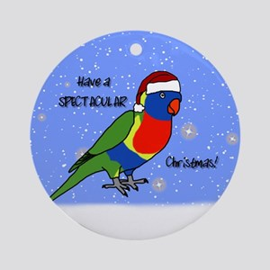 Santa Rainbow Lorikeet Ornament