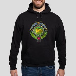 Celtic Cat 8 Mandala Hoodie (dark)