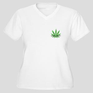 Legalize It! (leaf) Women's Plus Size V-Neck T-Shi