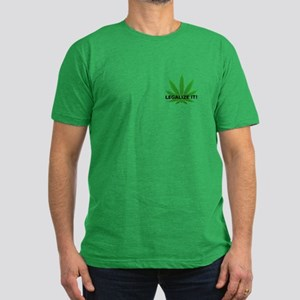 Legalize It! (leaf) Men's Fitted T-Shirt (dark)
