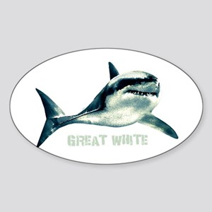 Great White Sticker (Oval)