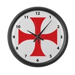 Knights Templar Large Wall Clock