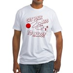 Get Your Ass To Mars Fitted T-Shirt