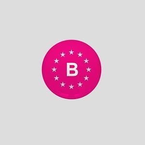 EU Pink Belgium Mini Button