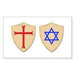 Zionist Crusader Sticker (Rectangle 10 pk)