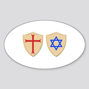 Zionist Crusader Sticker (Oval)