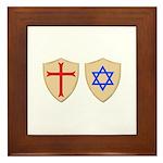 Zionist Crusader Framed Tile