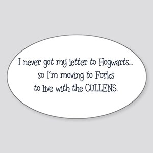 Moving to Forks Sticker (Oval)
