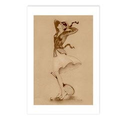 1930's Tennis Girl Postcards (package Of 8)