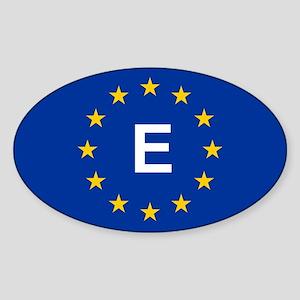 EU Spain Sticker (Oval)