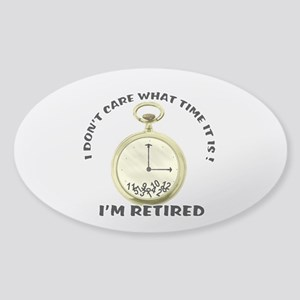 I'm Retired Sticker (Oval)