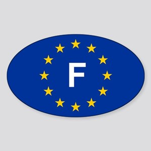EU France Sticker (Oval)