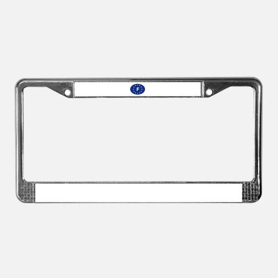 EU France License Plate Frame