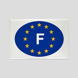 EU France Rectangle Magnet
