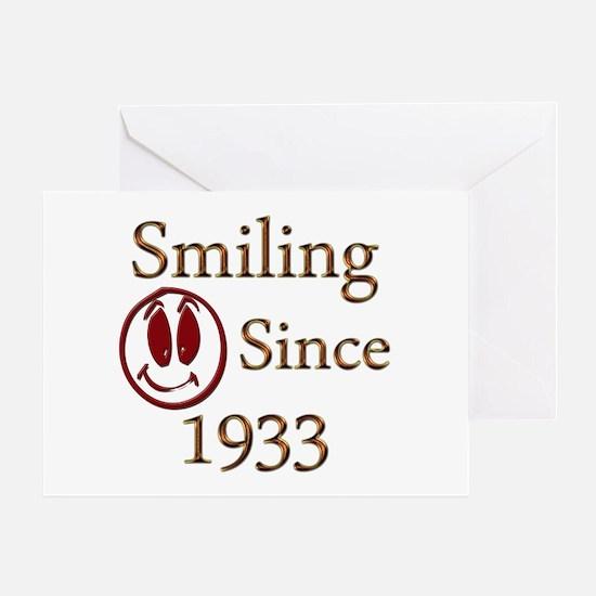 Born in 1933 birthday Greeting Card