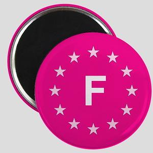 EU Pink France Magnet