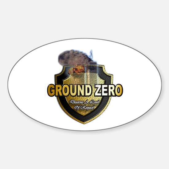 Unique Ground zero Sticker (Oval)
