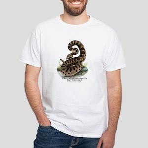 Eastern Massasauga Rattlesnake White T-Shirt