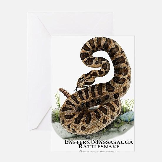 Eastern Massasauga Rattlesnake Greeting Card