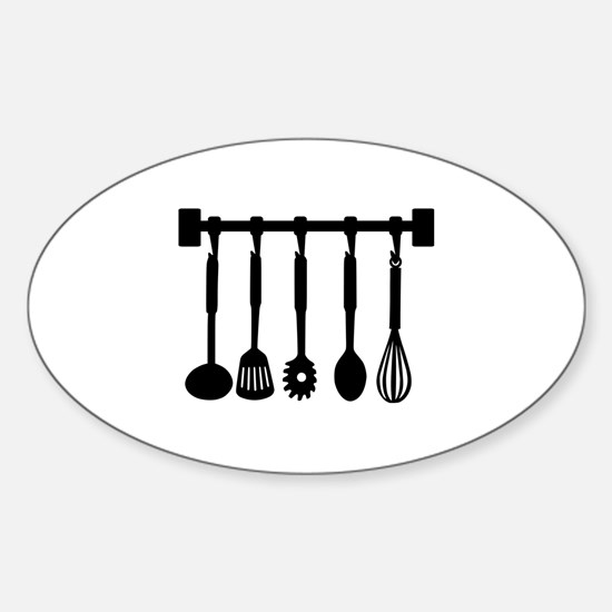 Kitchen equipment Sticker (Oval)