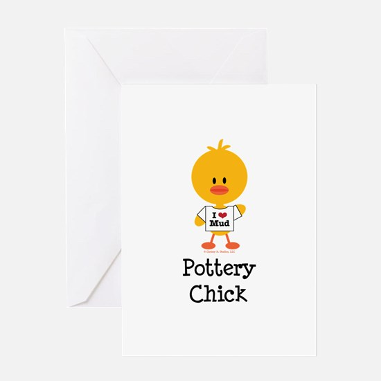 Pottery Chick Greeting Card