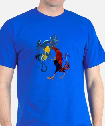 Two Colorful Fighting Rooster T-Shirt
