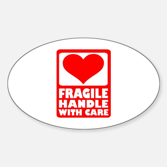Fragile handle with care Sticker (Oval)