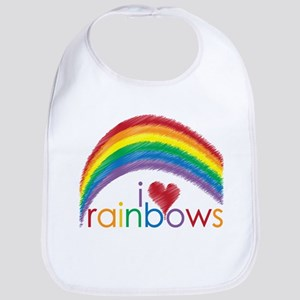 I Love Rainbows Bib
