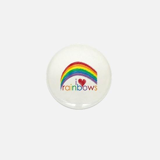 I Love Rainbows Mini Button