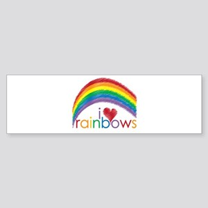 I Love Rainbows Sticker (Bumper)
