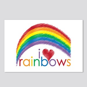 I Love Rainbows Postcards (Package of 8)