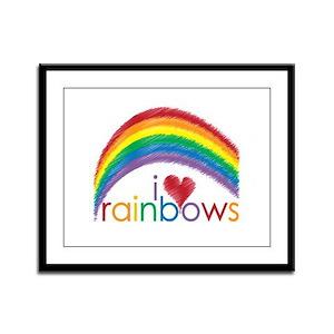 I Love Rainbows Framed Panel Print
