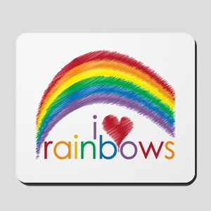 I Love Rainbows Mousepad