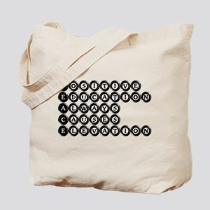 P.E.A.C.E. - Positive Educati Tote Bag