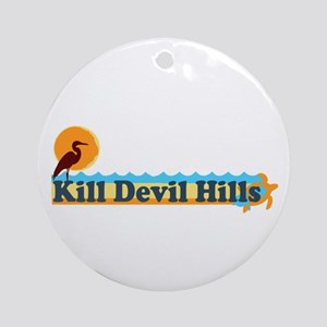 Kill Devil Hills NC - Beach Design Ornament (Round