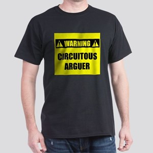 WARNING: Circuitous Arguer Dark T-Shirt
