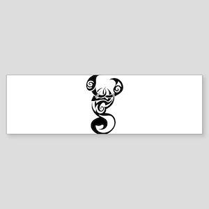 Tribal Scorpion Swirl Sticker (Bumper)
