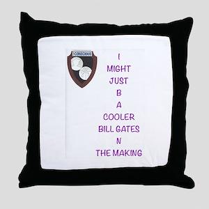 Bill Gates Throw Pillow
