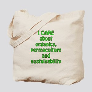 I care about organics Tote Bag