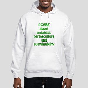 I care about organics Hooded Sweatshirt