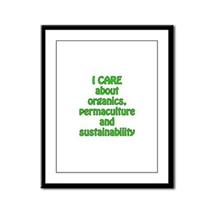 I care about organics Framed Panel Print