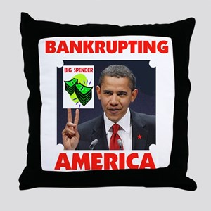 DESTROYING AMERICA Throw Pillow