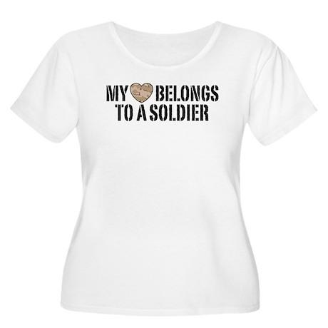 My Heart Belongs To A Soldier Women's Plus Size Sc